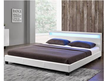 ArtLife Polsterbett Paris 140 x 200 cm Einzelbett in weiß
