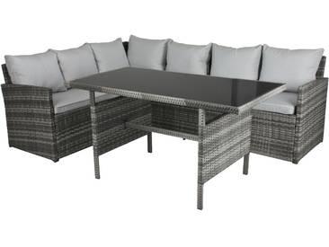3tlg Garten Lounge Sofa Sitzgruppe Garten Couch Sessel  Rattan Optik Gartenmöbel
