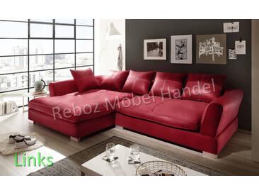 Big Sofa Kunstleder Leder Ecksofa Rot LINKS Bigsofa verschiedene Farben