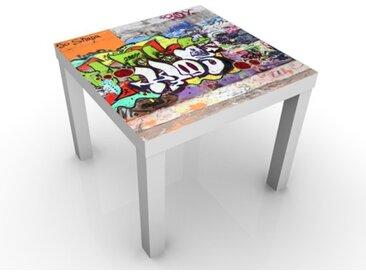 Kindertisch Graffiti - Tische Bunt, Tischfarbe:schwarz, Größe:55 x 55 x 45cm