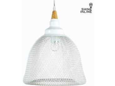 Deckenlampe Holz Metall Weiß (40 x 40 x 160 cm) by Shine Inline