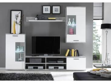 89-570-D5 Anbauwand Wohnwand Wohnzimmerschrank ca. 230 cm breit