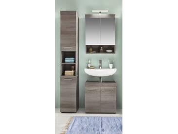 Hochschrank Spiegelschrank Badschrank Waschbeckenunterschrank Runner Rauchsilber, Modell :Waschbeckenunterschrank