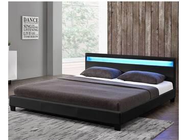 ArtLife Polsterbett Paris 180 x 200 cm Doppelbett in schwarz