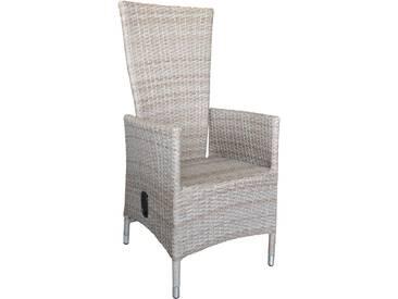 Polyrattan Sessel Lea natur, stufenlos verstellbare Rückenlehne