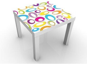 Kindertisch Happy Eggs - Tische Bunt, Tischfarbe:weiss, Größe:55 x 55 x 45cm