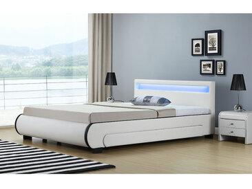 ArtLife Polsterbett Bilbao mit Bettkasten 140 x 200 cm - weiß