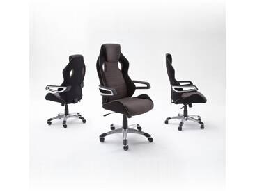 MCA Furniture Chefsessel Karlo, Grau, Stoff/Textil, 62536GS8