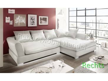 Big Sofa Kunstleder Leder Ecksofa Weiß RECHTS Bigsofa verschiedene Farben