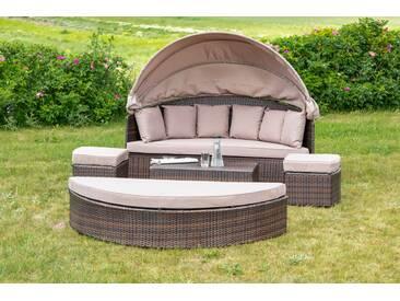 Merxx Relaxinsel Riva Lounge Set, Braun