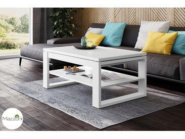 Design Couchtisch Multifunktionstisch Arbeitstisch Tisch Nuo Weiß matt Ablagefläche Esstisch