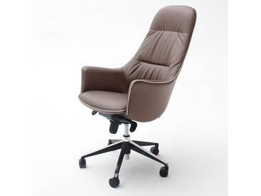 MCA Furniture Chefsessel Karen, Braun, Stoff/Textil, 62390NZ8