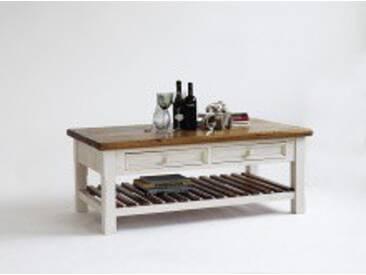 MCA Furniture Couchtisch Bodde Bodde, Braun/Weiß, Massivholz, FH302055