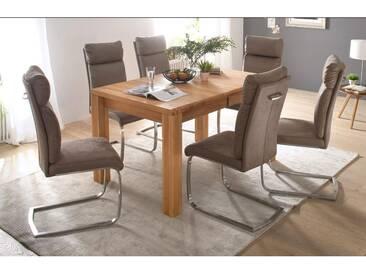 MCA Furniture Esstisch Anton Anton, Braun/Holz, 140,00cm x 90,00cm x 78,00cm, Massivholz, ANT140KB