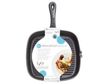 Kitchencraft Frypan Grill Deluxe 23CM Bratpfanne, Gusseisen/Gussaluminium, Induktionsherd-geeignet