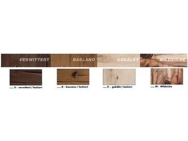 MCA Furniture Esstisch Castello Castello, Braun, 180,00cm x 100,00cm x 77,00cm, Massivholz/Metall, CAS180EV