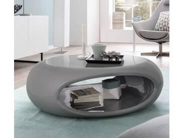 SalesFever® Couchtisch Hochglanz oval Ufo