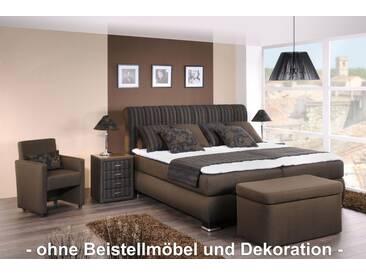 Oschmann Boxspringbett Prestige, 180x200 cm, Stoff Braun, H2/H3
