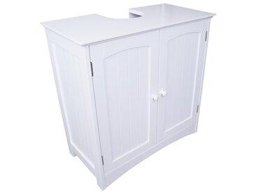 Waschbeckenunterschrank weiß, Bad-Unterschrank, (B/H/T) 60 x 60 x 30 cm, verstellbarer Einlegeboden & Siphon Aussparung - perfekt für Badezimmer im Landhausstil