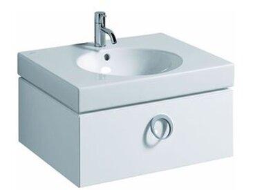 Keramag Waschbeckenunterschrank ohne Becken Preciosa II 59x23cm x49cm Weiß Hochglanzlack, 800760000