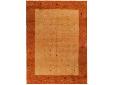 Handgefertigter Teppich Indo Gabbeh Daria in Rost