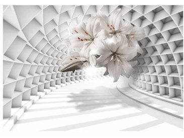 Fototapete Flowers in the Tunnel 1,4 m x 200 cm
