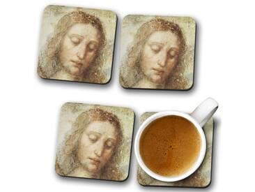 Glasuntersetzer-Set Leonardo da Vinci Head of Christ