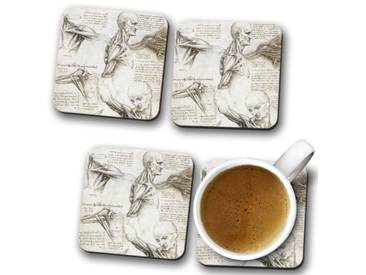 Glasuntersetzer-Set Leonardo da Vinci Anatomy 4