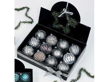 12-tlg. Weihnachtsbaumkugeln-Set