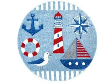 Kinderteppich Segelboot in Blau