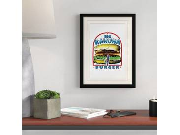 Gerahmtes Poster Pulp Fiction Big Kahuna Burger, Retro-Werbung