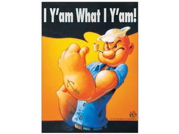 Paneel I Yam What I Yam von Segar, Retro-Werbung
