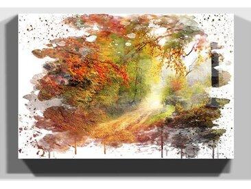 Wandbild Landschaft Herbstwald
