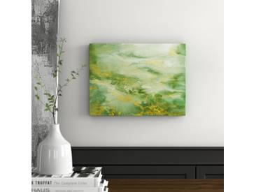 Leinwandbild Abstract Green and Gold von Tre Sorelle Studios