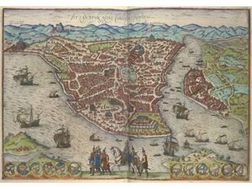 Leinwandbild Constantinople, Grafikdruck von Joris Hoefnagel, Franz Hogenberg und Georg Braun