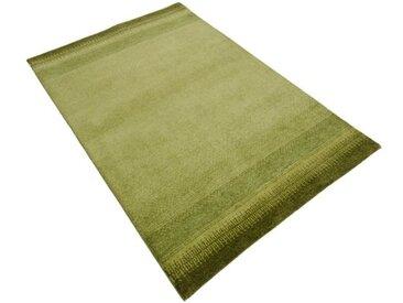Handgefertigter Teppich Indo Gabbeh Chenar aus Wolle in Grün
