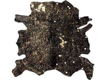 Handgefertigter Teppich aus Kuhfell in Schwarz