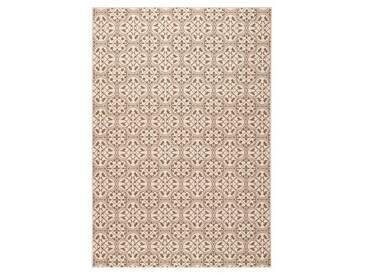 Teppich in Braun/Creme