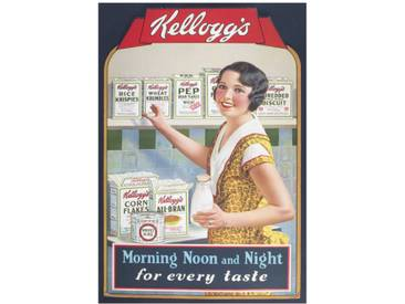 Poster Vintage Kelloggs Morning Noon and Night