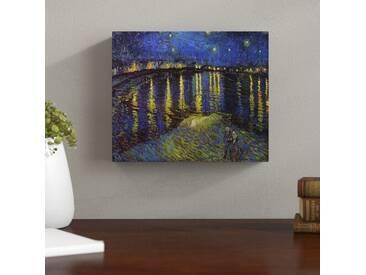 Leinwandbild Sternennacht über der Rhone von Vincent van Gogh