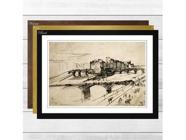 Gerahmtes Poster Paris Sketch von James Abbott McNeill Whistler