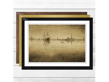 Gerahmtes Poster Nocturne (2) von James Abbott McNeill Whistler