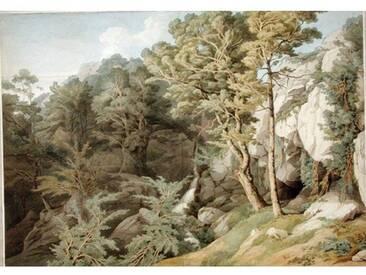 """Gerahmtes Poster """"Canonteign, Devon, 1804"""" von John White Abbott, Kunstdruck"""