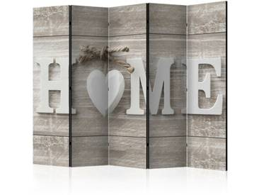 Paravent Home and Heart mit 5 Paneelen
