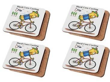 Glasuntersetzer-Set Hard Core Cycling