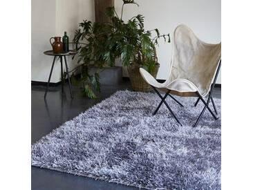 Handgetufteter Teppich Cool Glamour in Silber