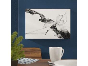 Leinwandbild Abstrakte Kunst in Schwarz-Weiß