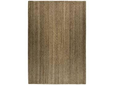 Handgefertigter Teppich Feel Nature in Braun