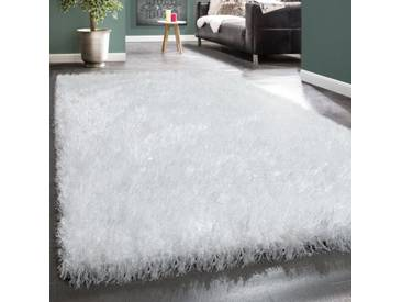 Shaggy-Teppich Dominic in Weiß