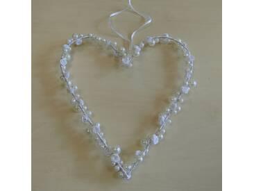 Wanddekoration Rose and Bead Heart
